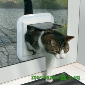 Trixie 4-Way Cat Flap especially for Glass