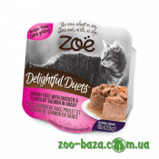 ZOE Delightful Duets with Chicken & Flakes of Salmon in Gravy