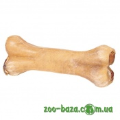 Trixie Chewing Bones with Bull Pizzle