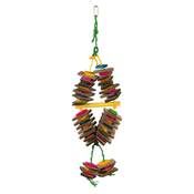 Trixie Wooden Toy with Sisal Rope