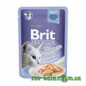 Brit Premium Cat Pouch with Salmon Fillets in Jelly