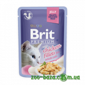 Brit Premium Cat Pouch with Chicken Fillets in Jelly